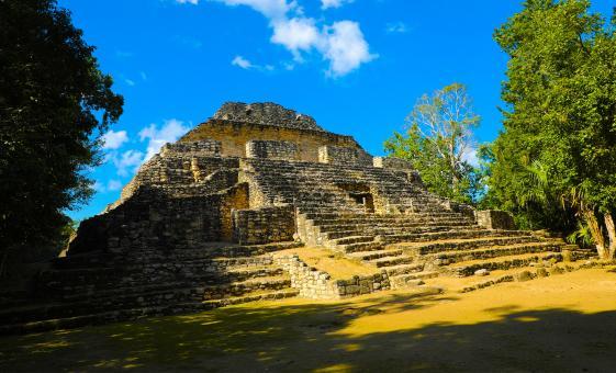 Mayan ruins in Costa Maya Caribbean