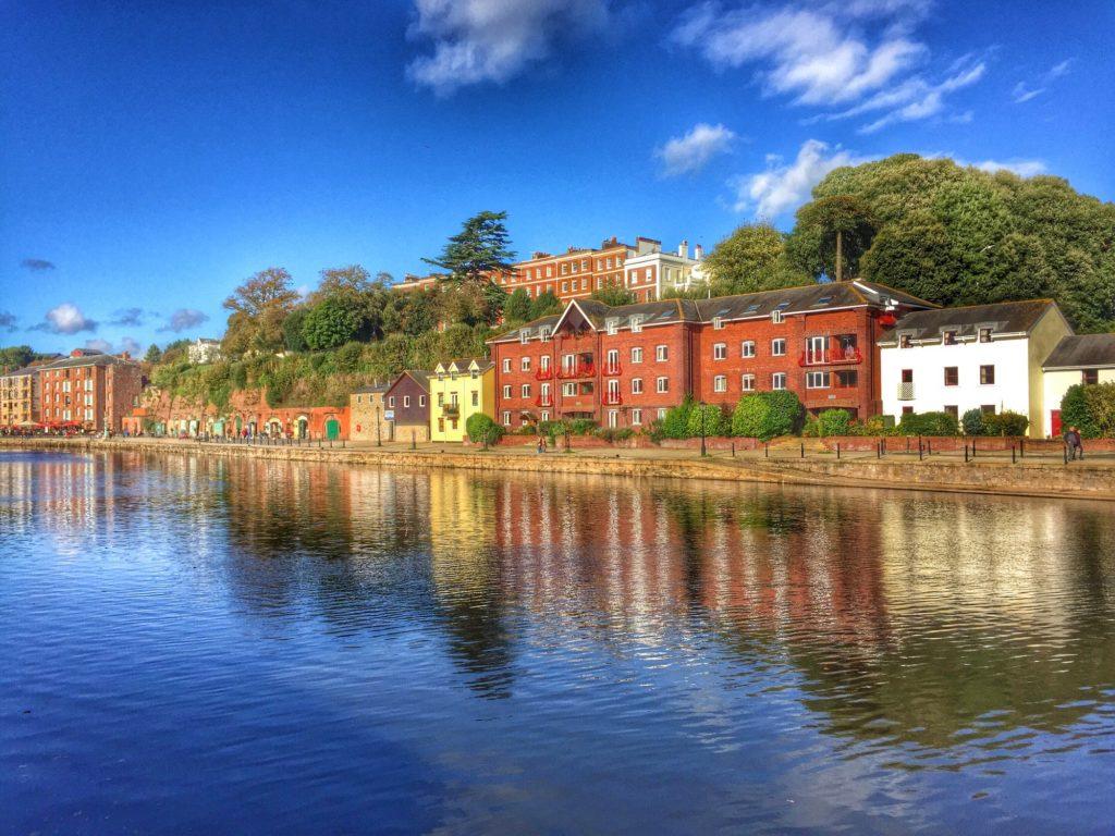Exeter City , Devon , England. River Exe Reflections