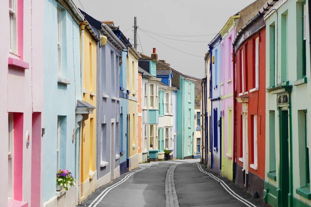 The colourful Irsha Street in North Devon