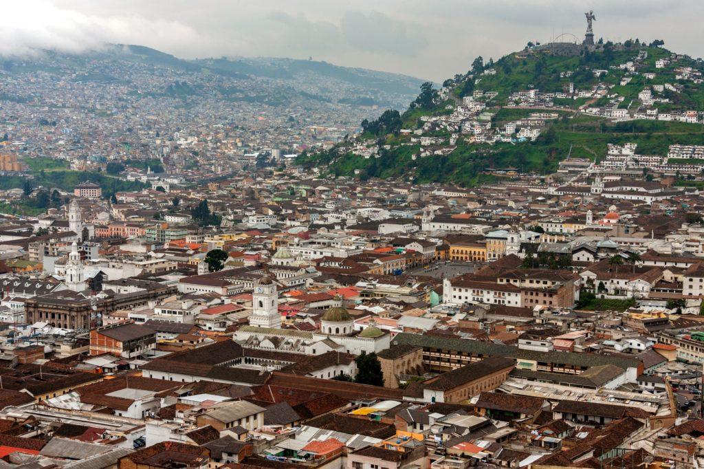 City of Quito in Ecuador - South America.