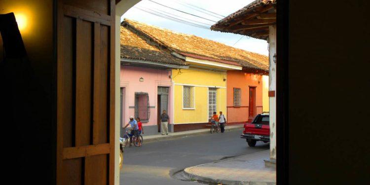 colourful buildings Granada