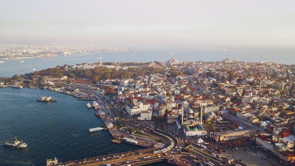 flyover of Istanbul turkey