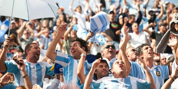 futbol fans in Buenos Aires