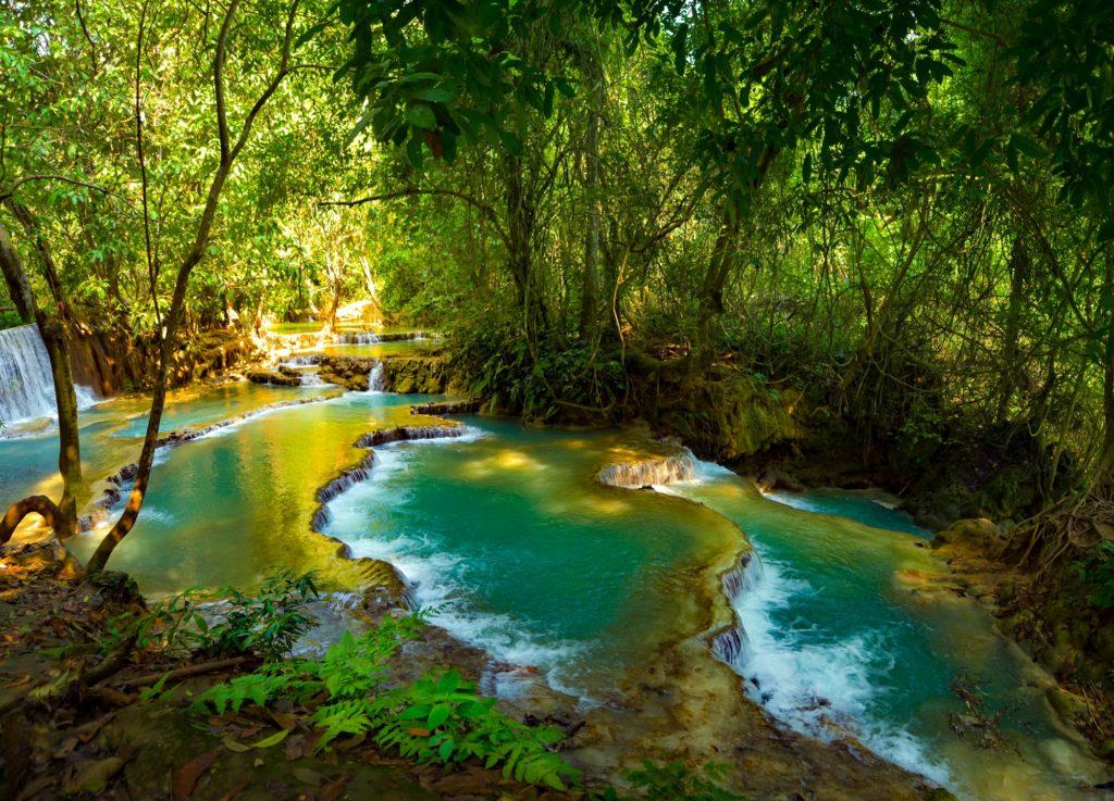 Kuang Si Waterfa near Luang Prabang Laos