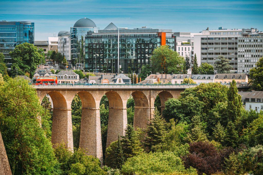 Old Bridge - Passerelle Bridge Or Luxembourg Viaduct In Luxembourg