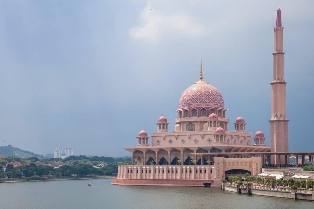 Pink Mosque in Putrajaya, Malaysia