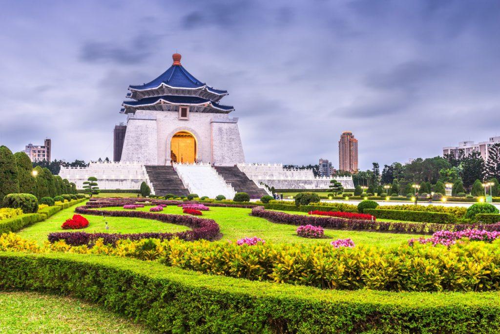 The Chiang Kai-Shek Memorial in Taipei, Taiwan