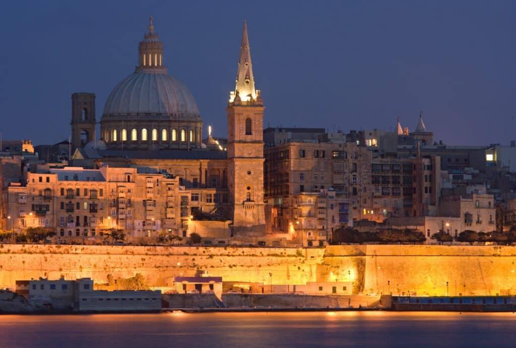 Valletta At Night, Malta - Visit with Heritage malta pass