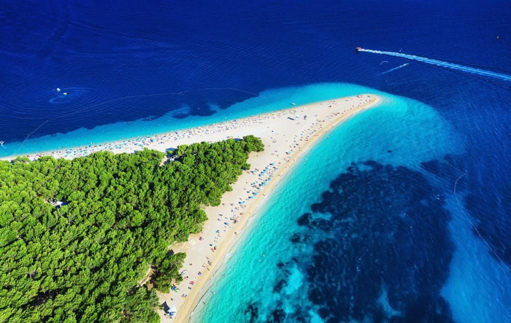Zlatni rat beach, Hvar island, Croatia