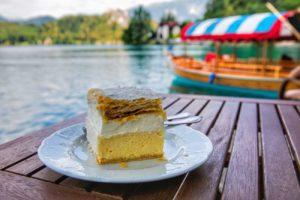 Lake Bled cake