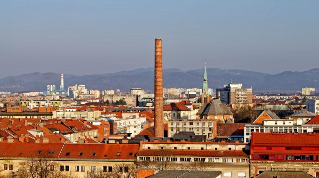 Cityscape of Ljubljana, Slovenia