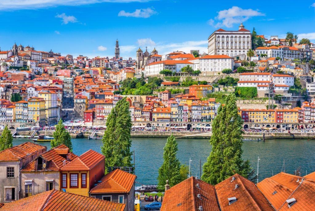 Porto, Portugal old town skyline